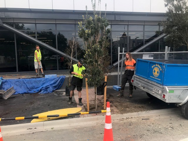 Hastings Police station tree planting